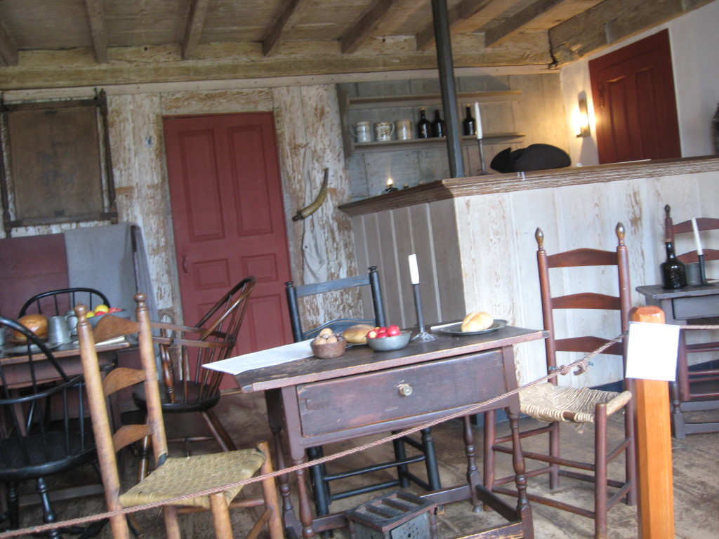 Inside Buckman's Tavern, where the Lexington militia waited for Regulars.