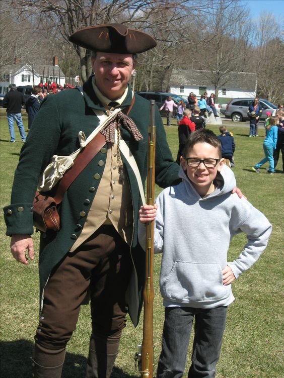 James with one of the Lexington militia.