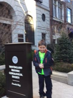 With Noah at the New England Historical Genealogical Society