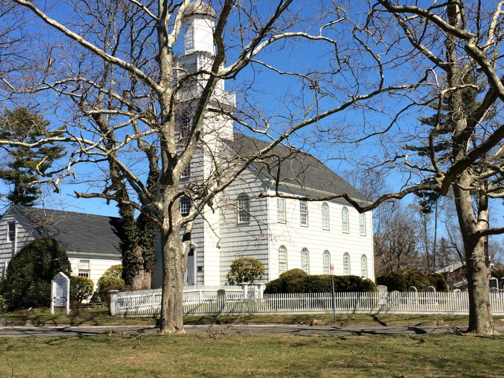 Setauket Presbyterian Church (site of Loyalist fortifications).