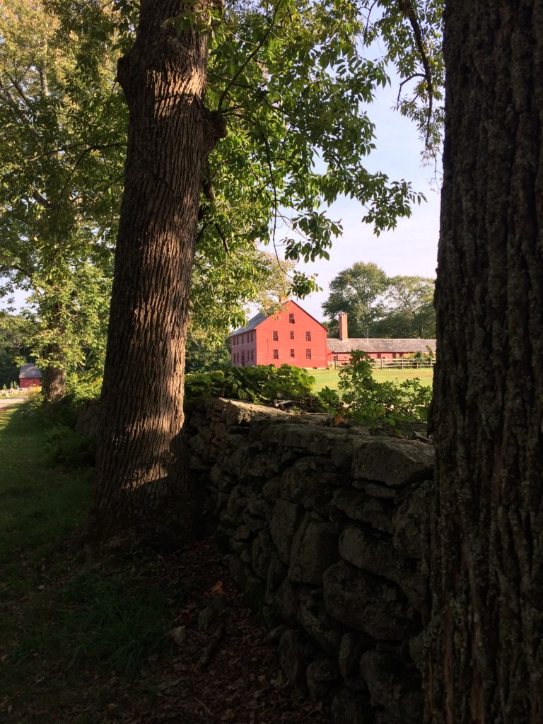 Entering Nathan Hale Homestead in Coventry, CT
